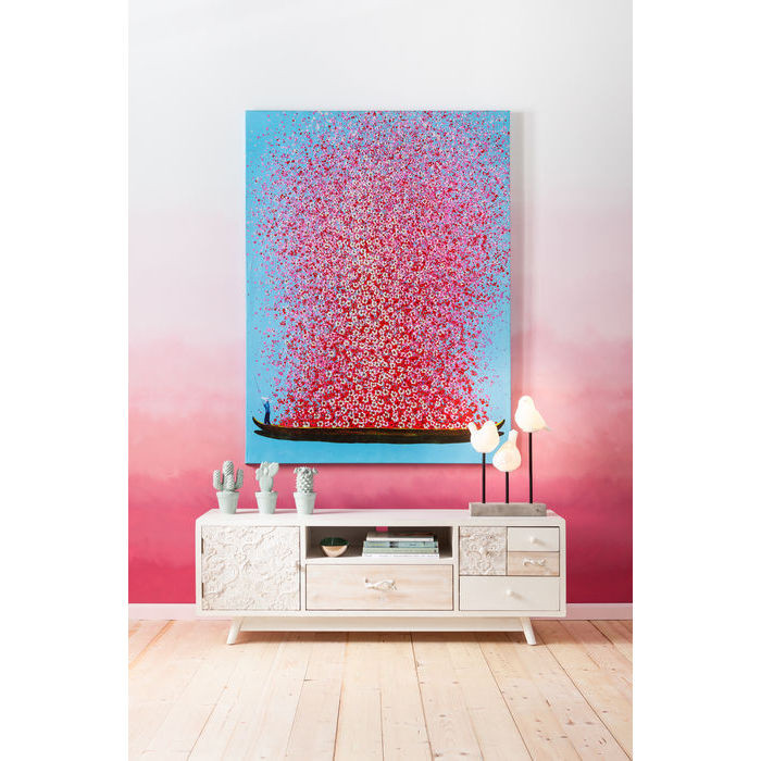 Картина Touched Flower Boat Blue Pink 100x80cm
