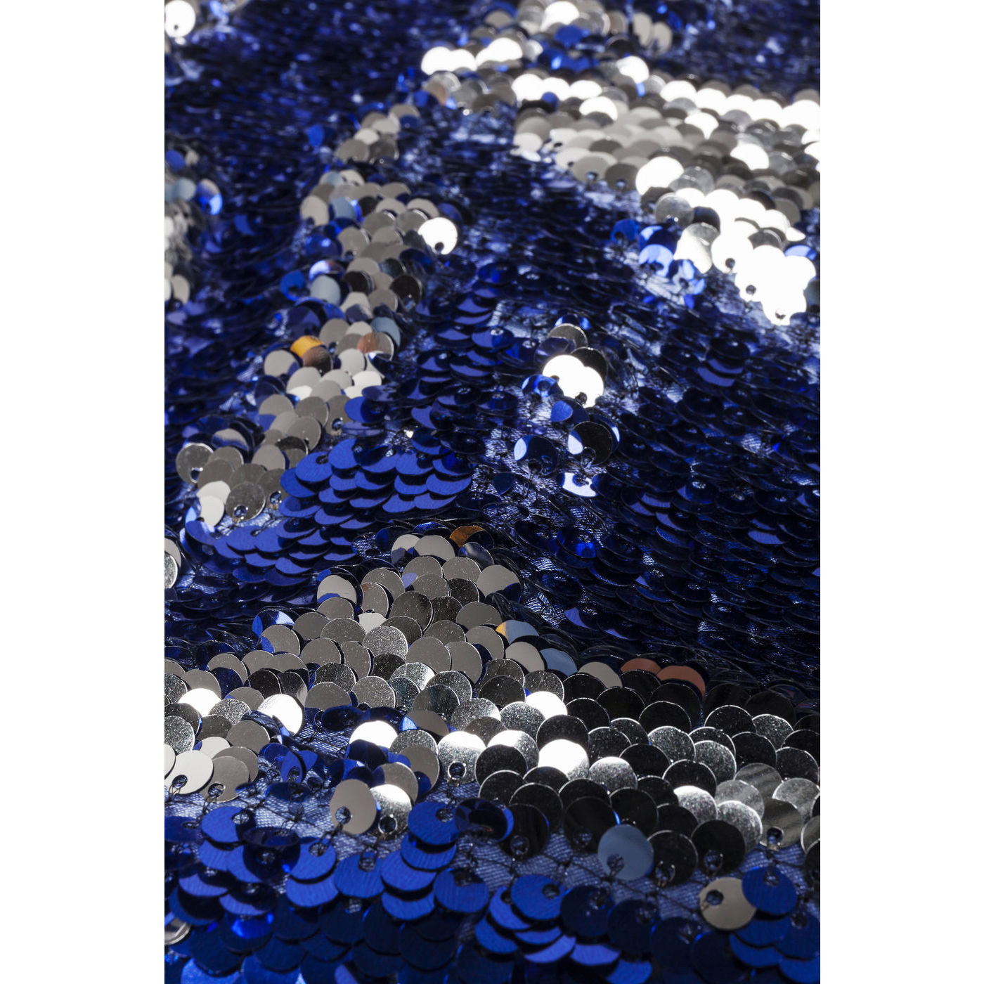 Пуф Disco Queen Blue-Silver 45x45cm